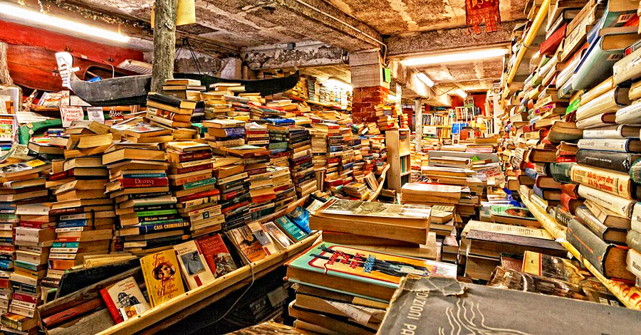 A sea of books.