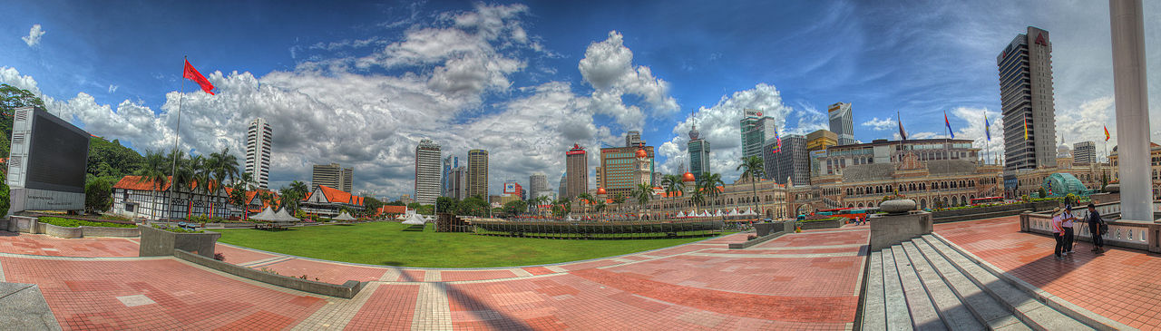 Dataran Merdeka is a major landmark.