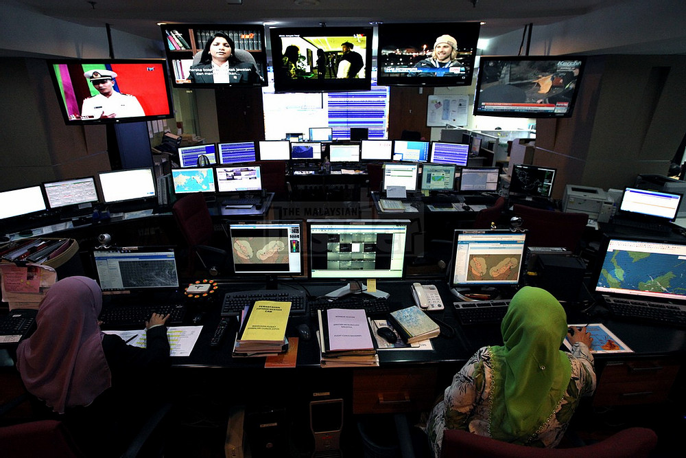 Inside the control room.