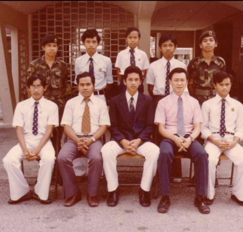 16-year-old Jailan with his mates from the renowned Sekolah Alam Shah.