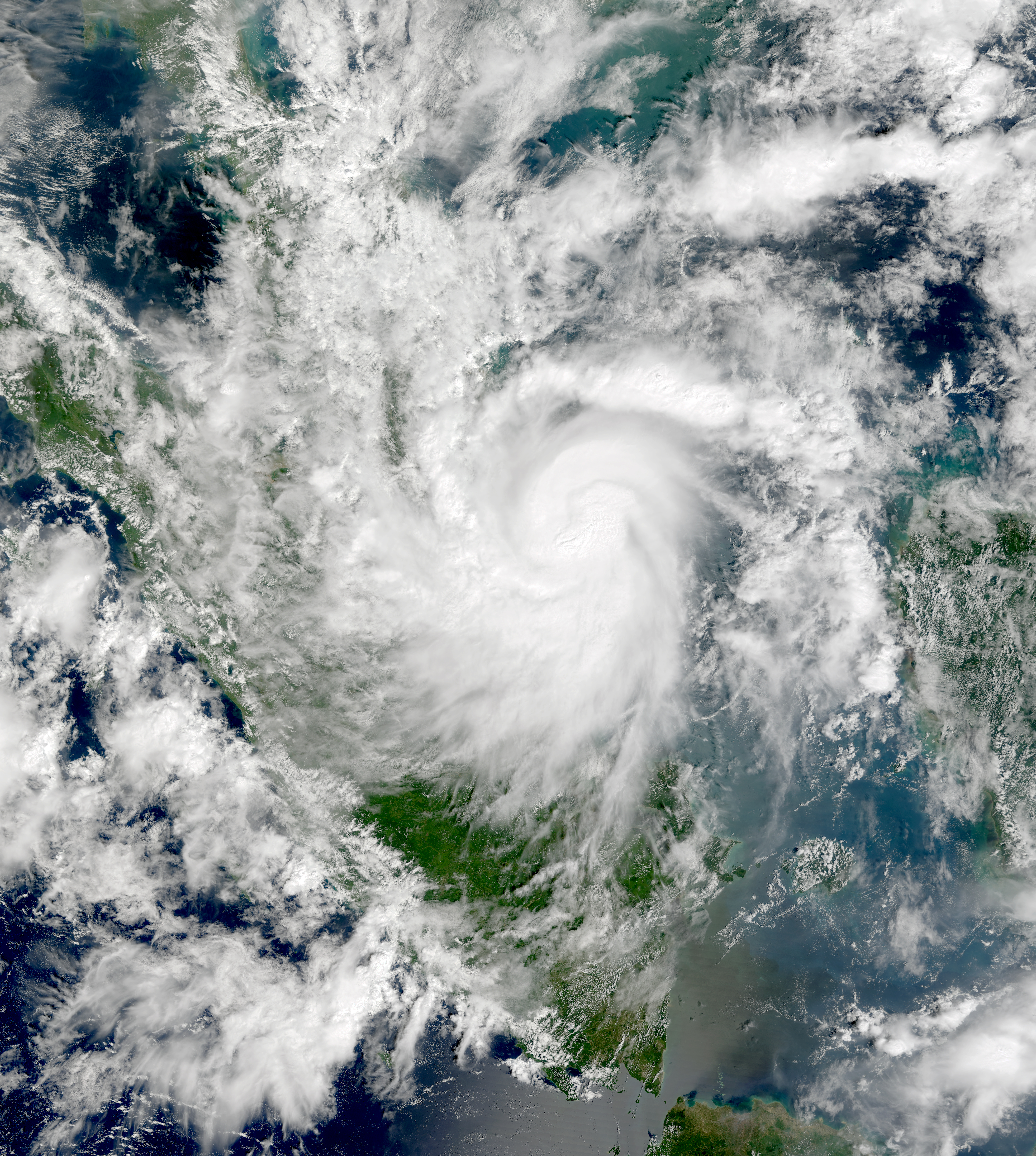 Tropical storm Vamei hit Malaysia on 27 December 2001.