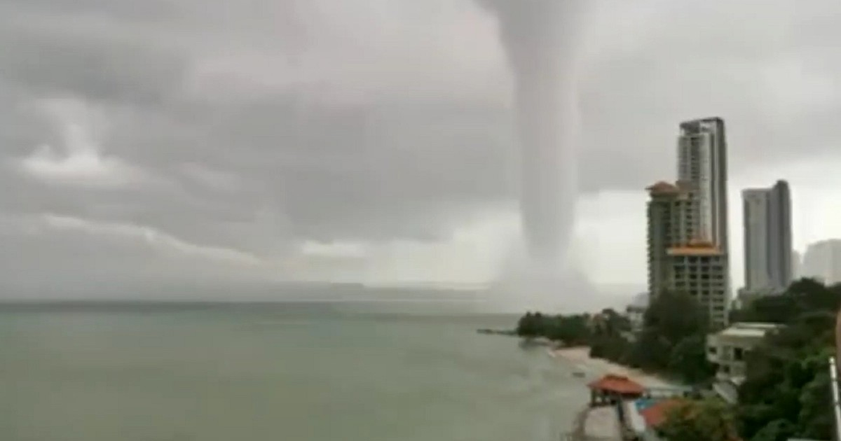 A mini-tornado reported in Langkawi back in 2019.