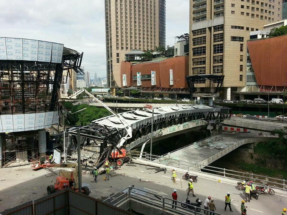 Runtuhan Jambatan Di KL Eco City; Operasi SAR dihentikan! Semua Mangsa Telah Ditemui