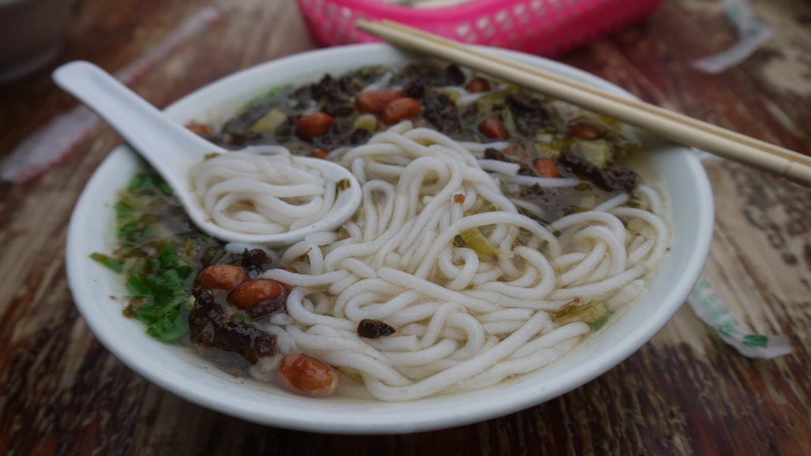 A generous serving of Baoluo noodles.