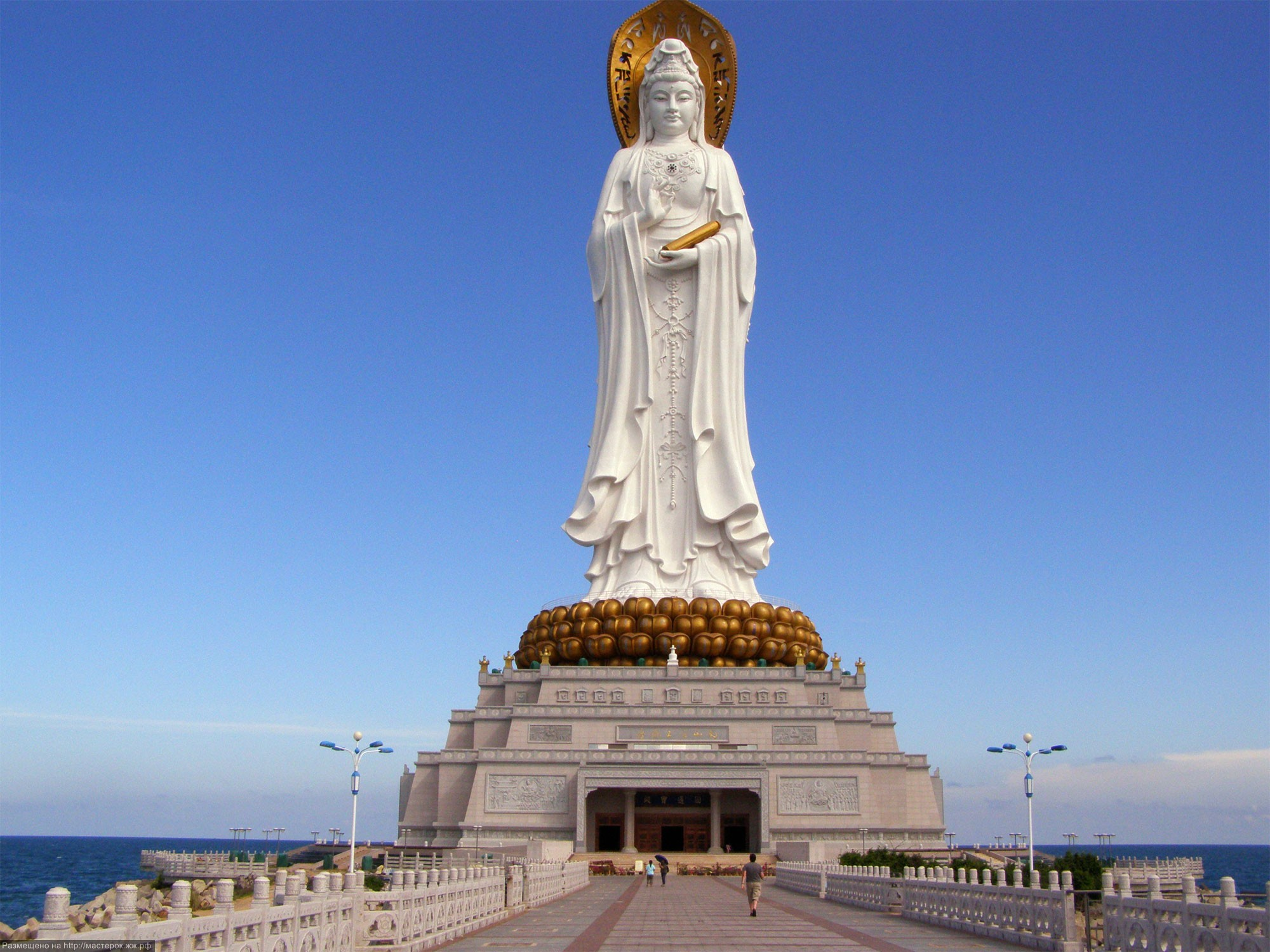 The majestic tower of Kwan Yin.