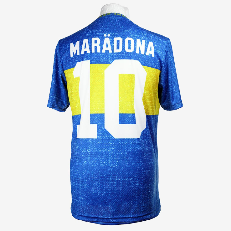 Repping Argentinian football legend Maradona.