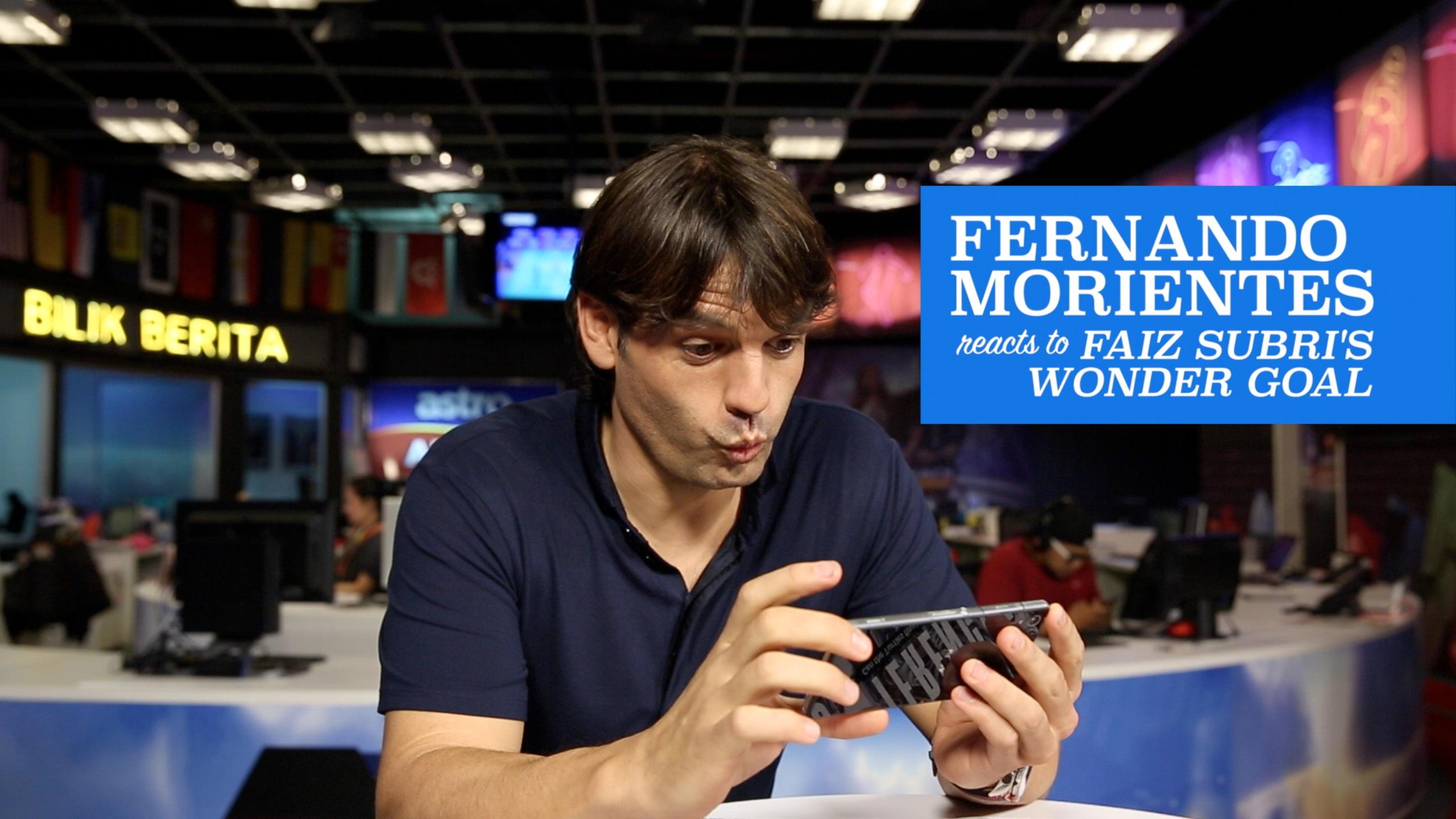 Fernando Morientes Reacts to Faiz Subri's Wonder Goal