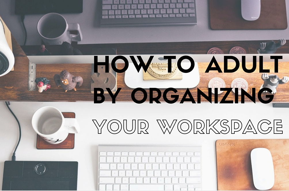 Be an Adult and Learn How to Organize!