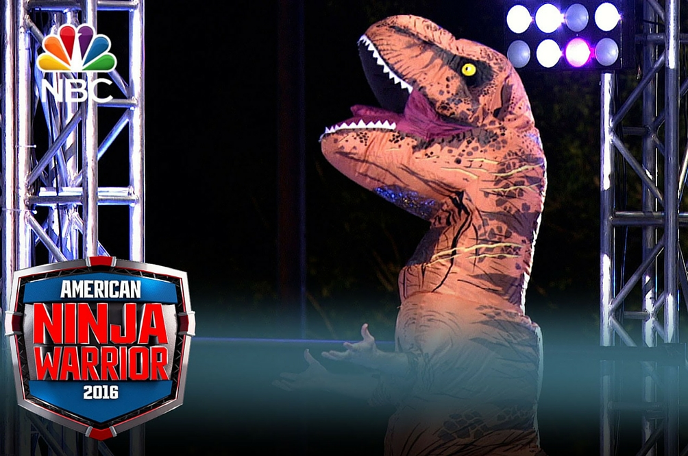 This T-Rex Just Crushed His Way Through the American Ninja Warrior Course