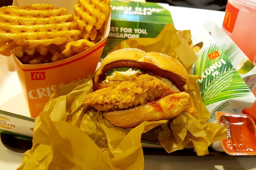 We Tried McDonald's Nasi Lemak Burger And Here's What We Think
