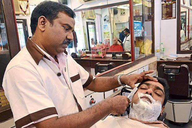 While you're here, don't forget the customary shave and head massage!