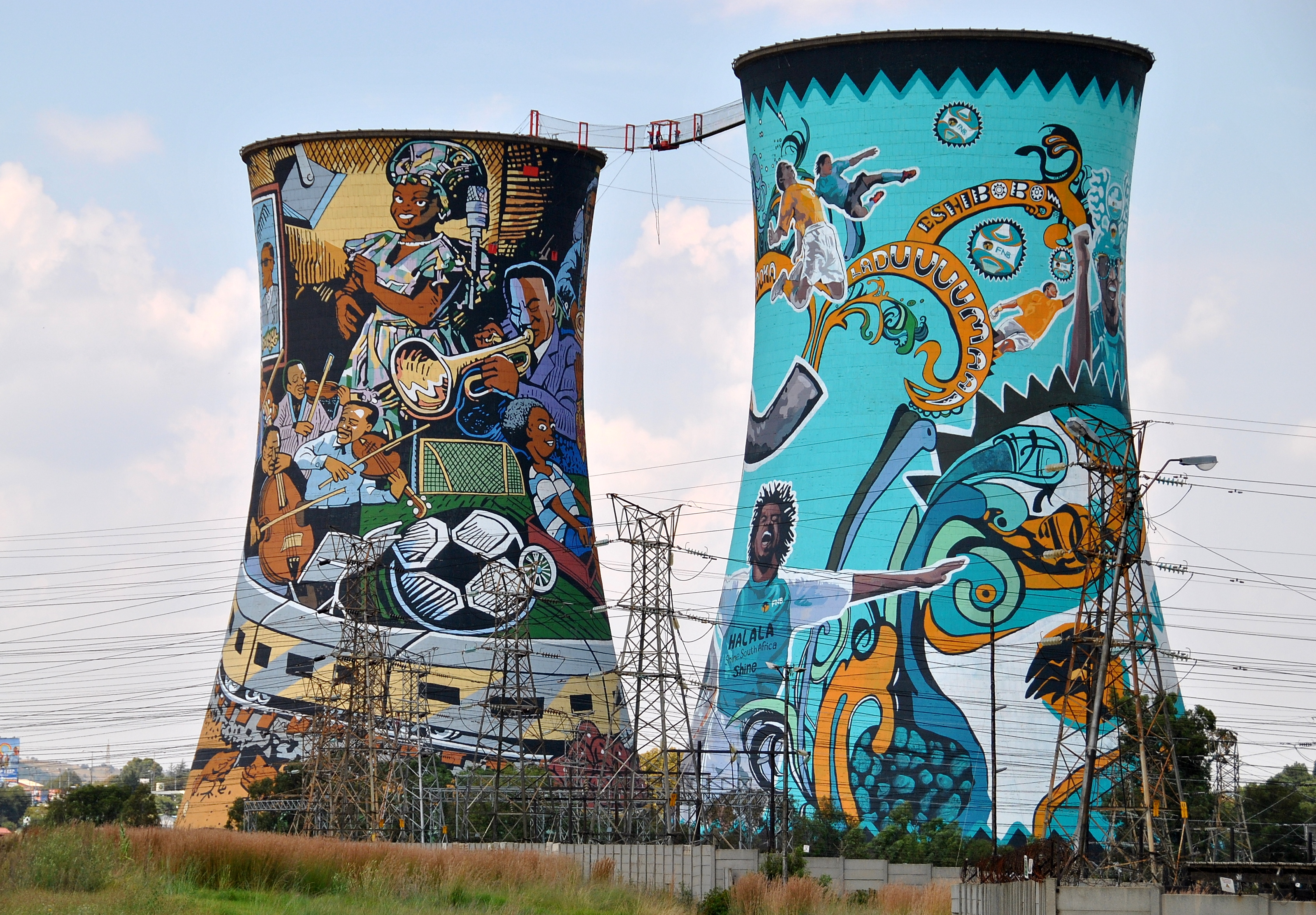Bungee jump from Soweto's iconic Orlando Towers.