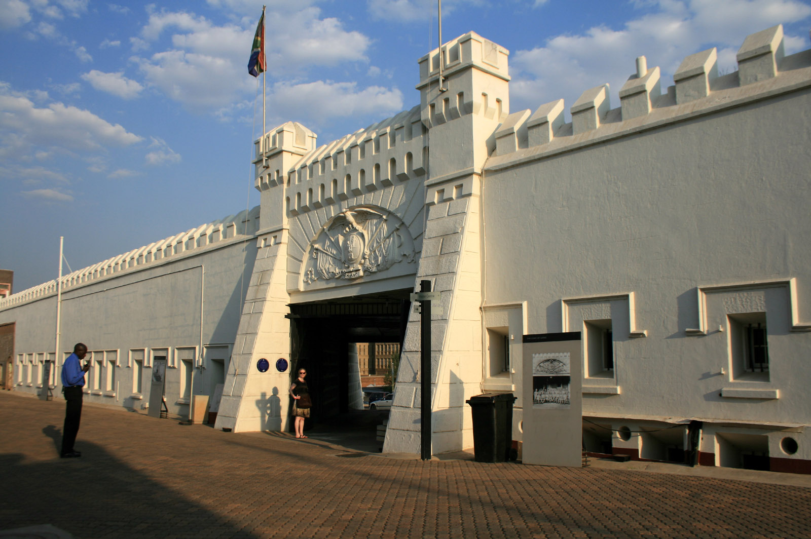 The Constitution Hill accommodates the Constitution Court, which guards the rights of local South Africans.