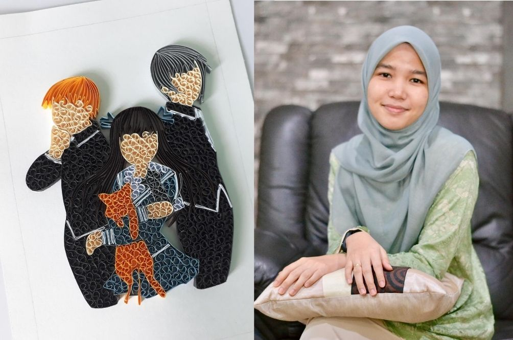 This M'sian Student Learned The Art Of Paper Quilling During The MCO And Turned It Into A Business