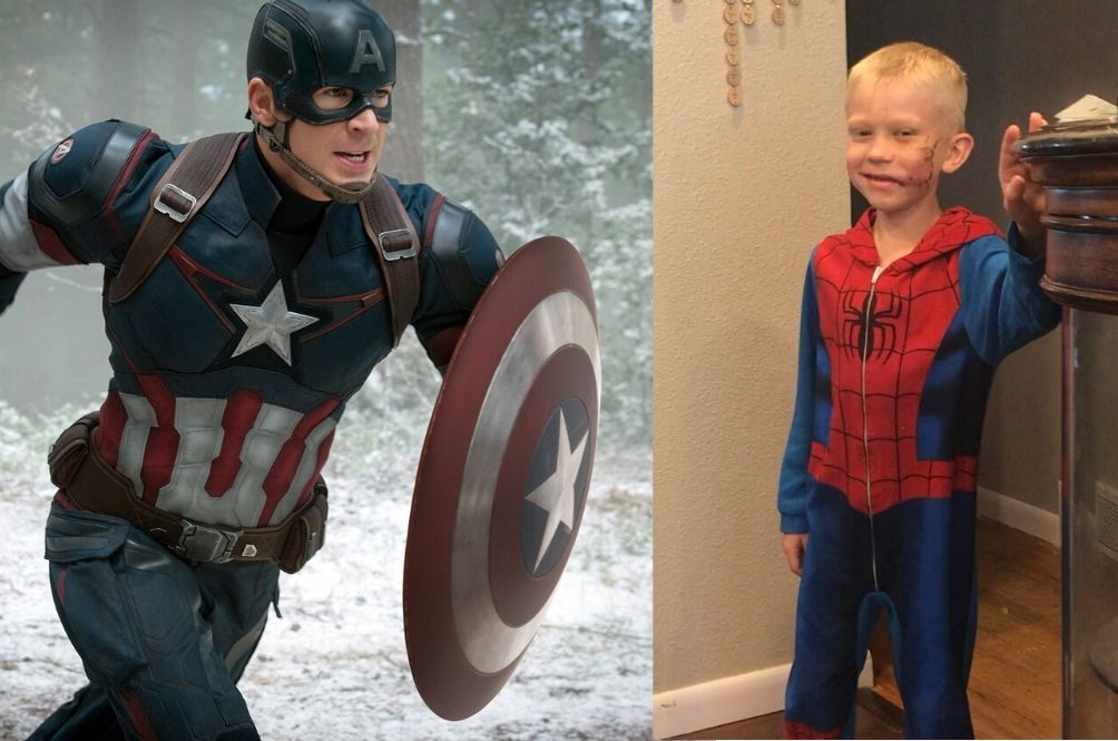 Brave Boy Who Shielded His Younger Sister From A Dog Receives Original ' Captain America' Shield