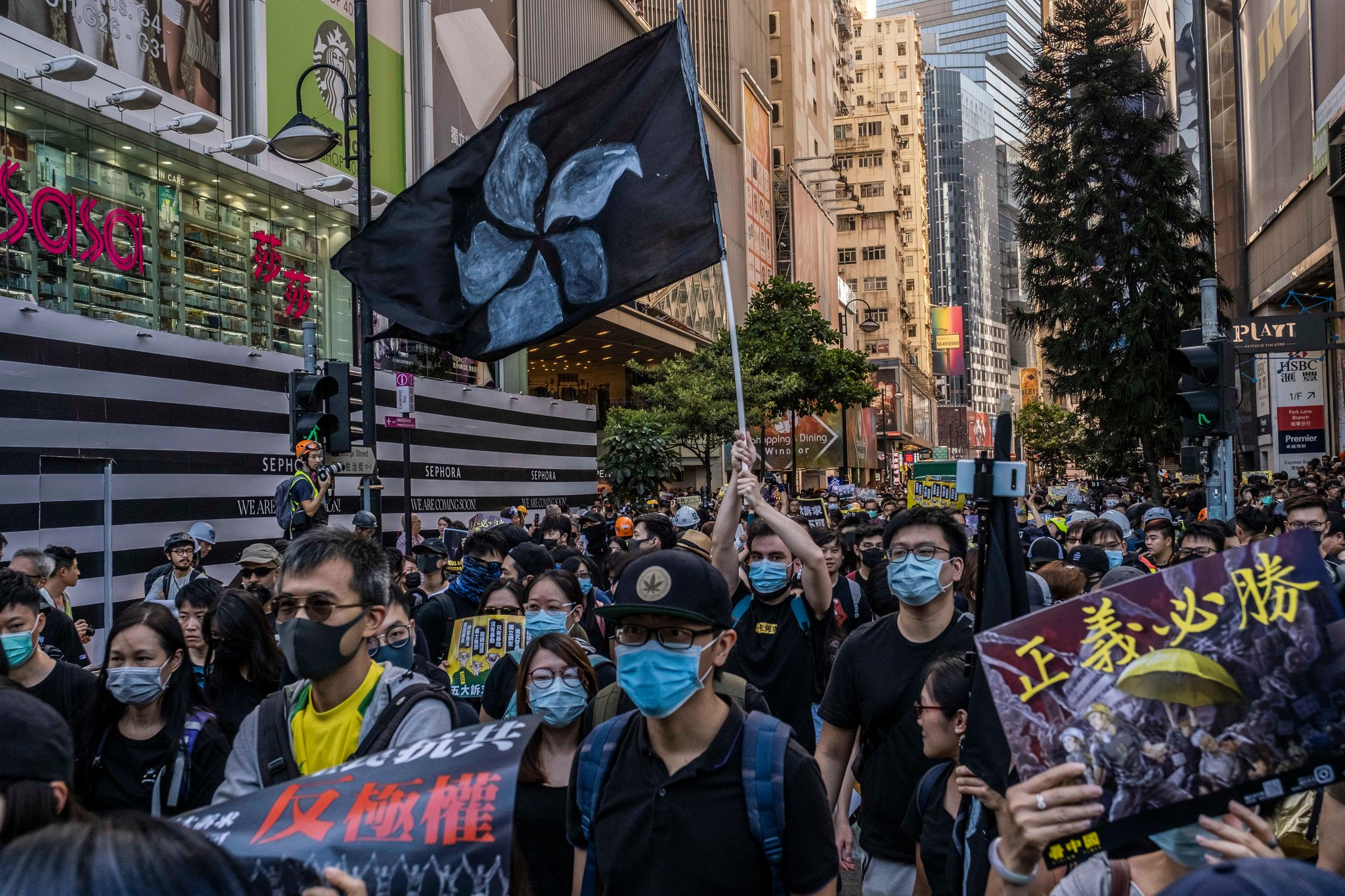 Hong Kong protests were ongoing when the team went there