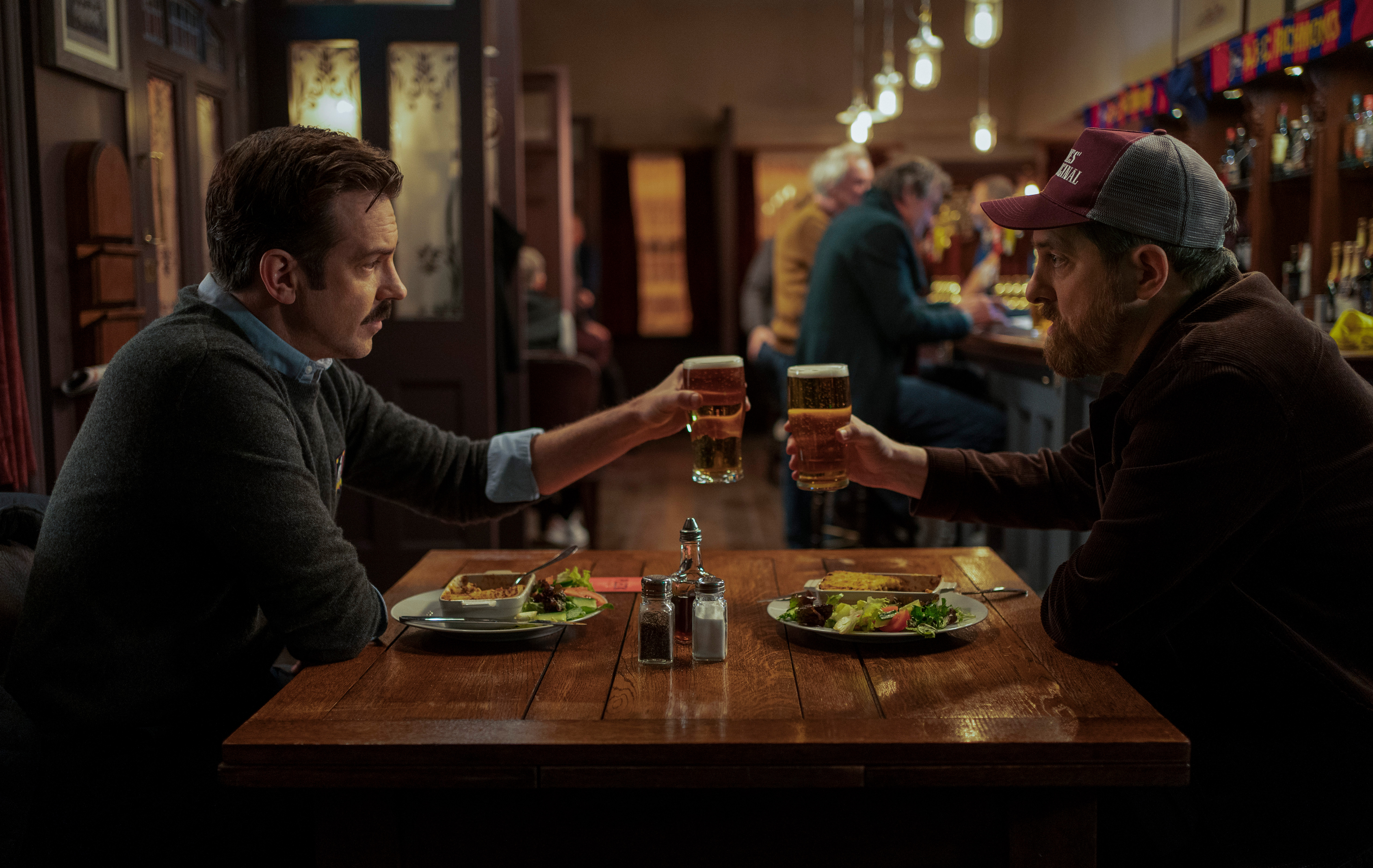 Jason Sudeikis and Brendan Hunt in 'Ted Lasso'