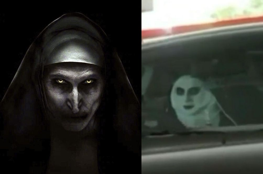 Singaporean's 'The Nun' Seat Cover Scares The Bejesus Out Of Unsuspecting Victims