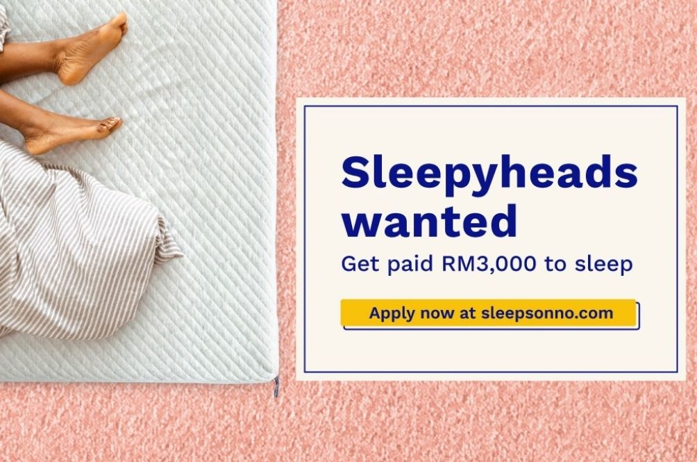 The Only Job You Can Do with Your Eyes Closed: Get Paid RM3,000 By Becoming Sonno's Sleep Executive