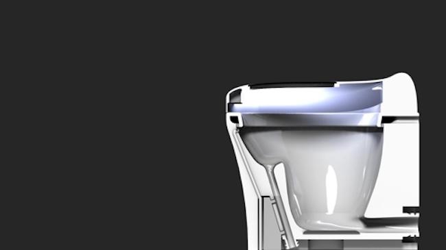UV light keeps the toilet clean