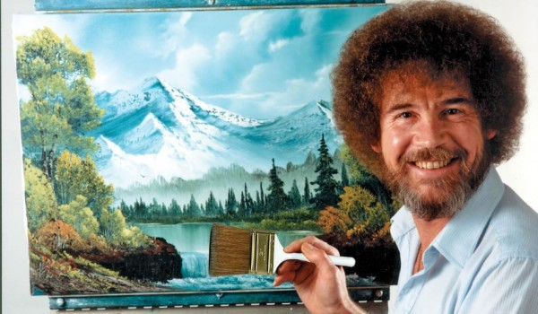 We're pretty sure the painter wasn't Bob Ross