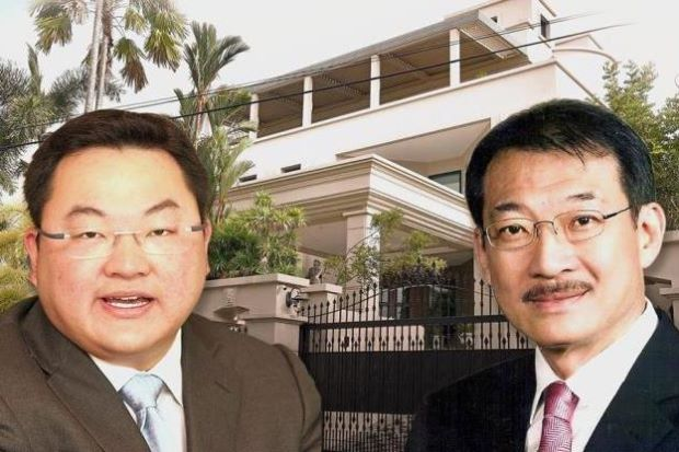 Jho Low and his father businessman Tan Sri Low Hock Peng