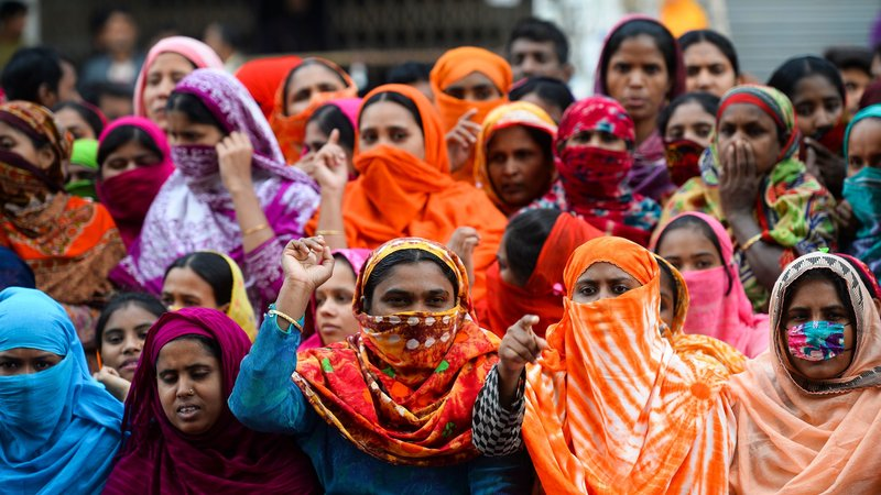 About 50,000 garment workers were involved in a strike. Jan 2019, Dhaka.