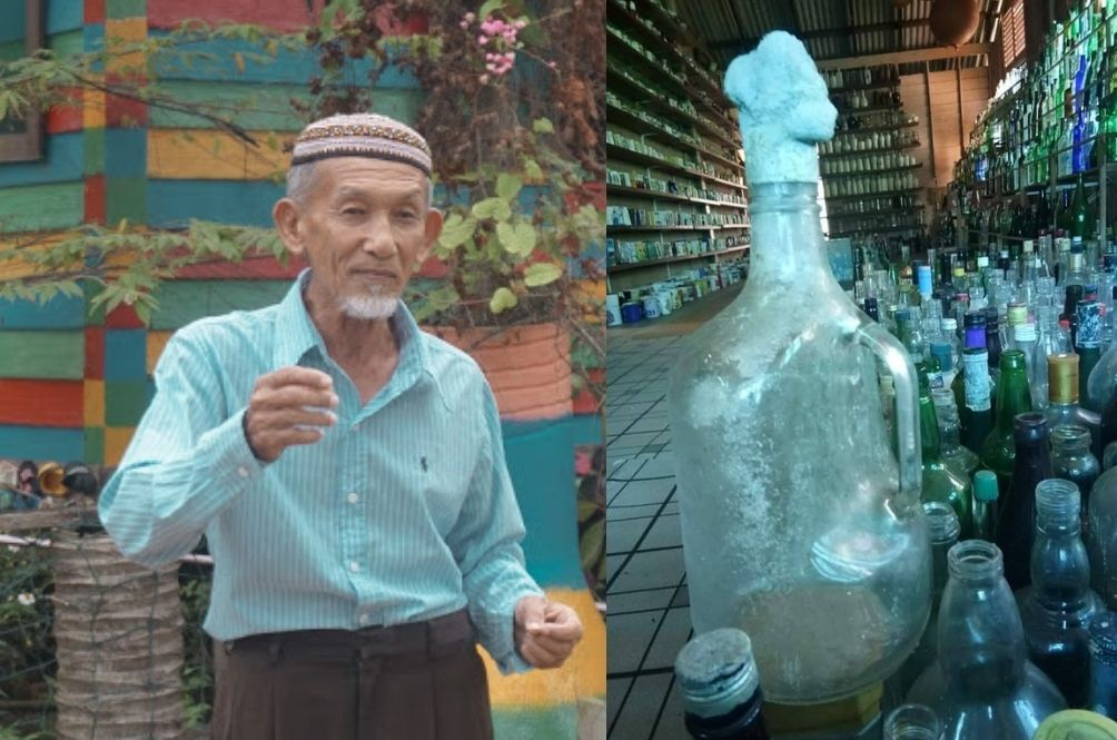 This Terengganu Pakcik Started A Museum With 9,000 Bottles He Found Along The Beaches Since 2005