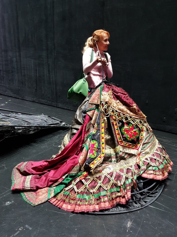 One of the skirts worn by a soprano singer in the show that weighs at least 15kg