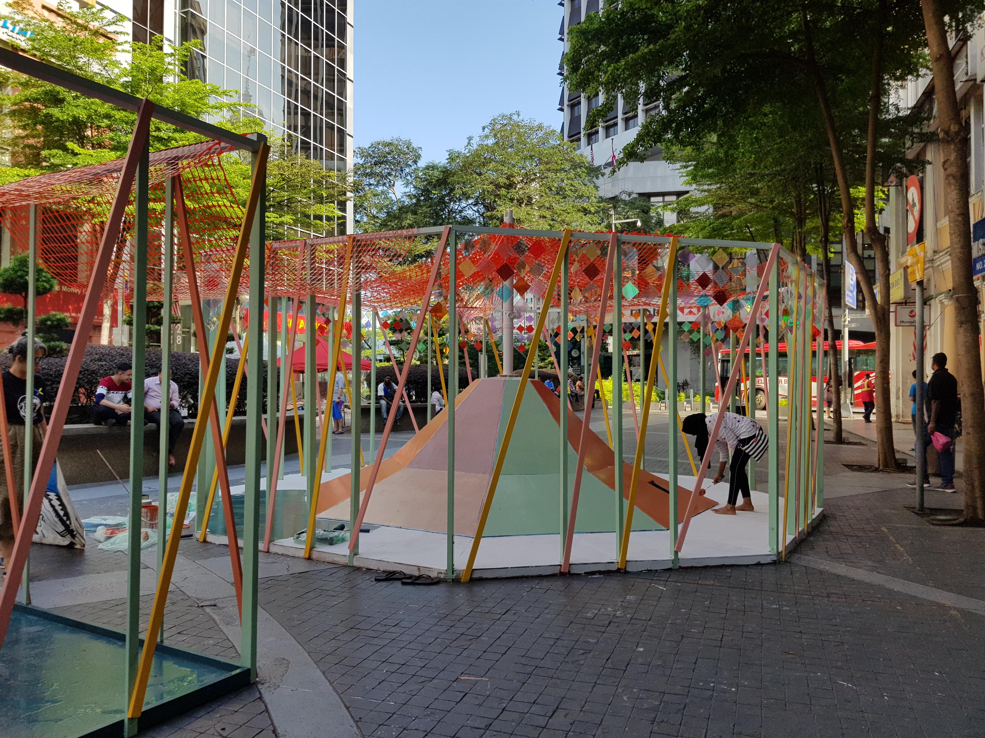 This week, you can see some installation art at Medan Pasar