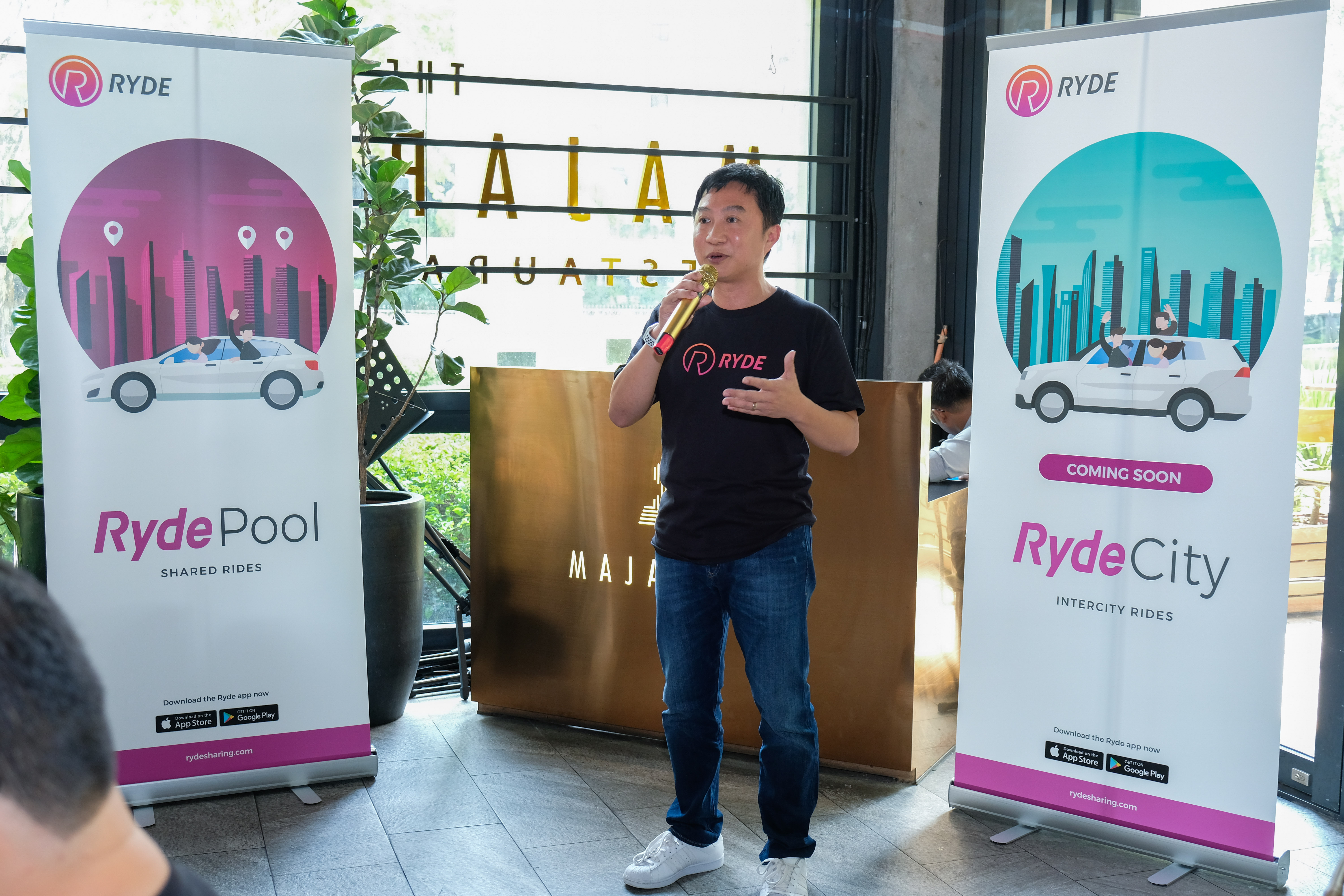 Terence Zou during the launch of RydePool app