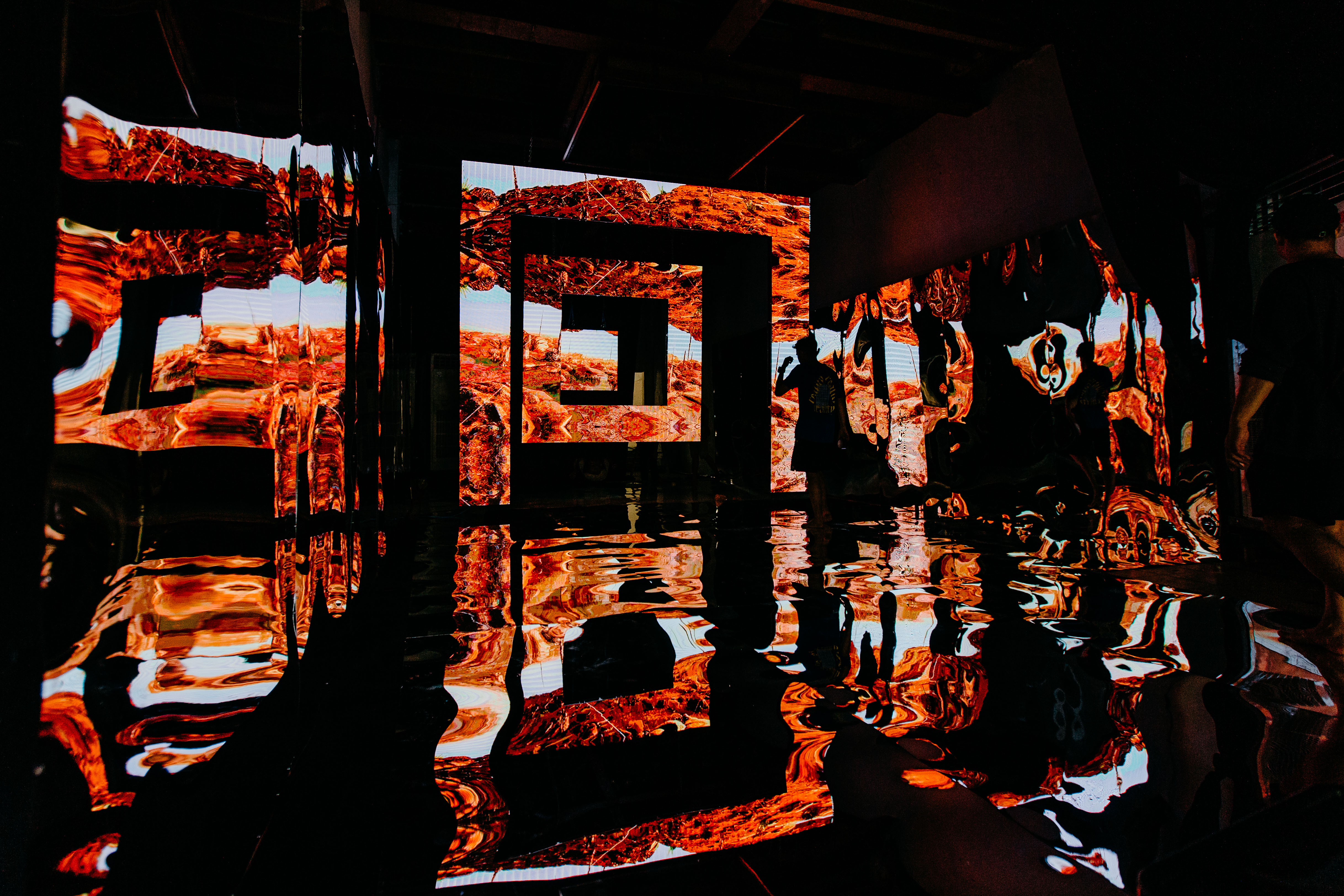 Interactive light exhibition where art and science merged