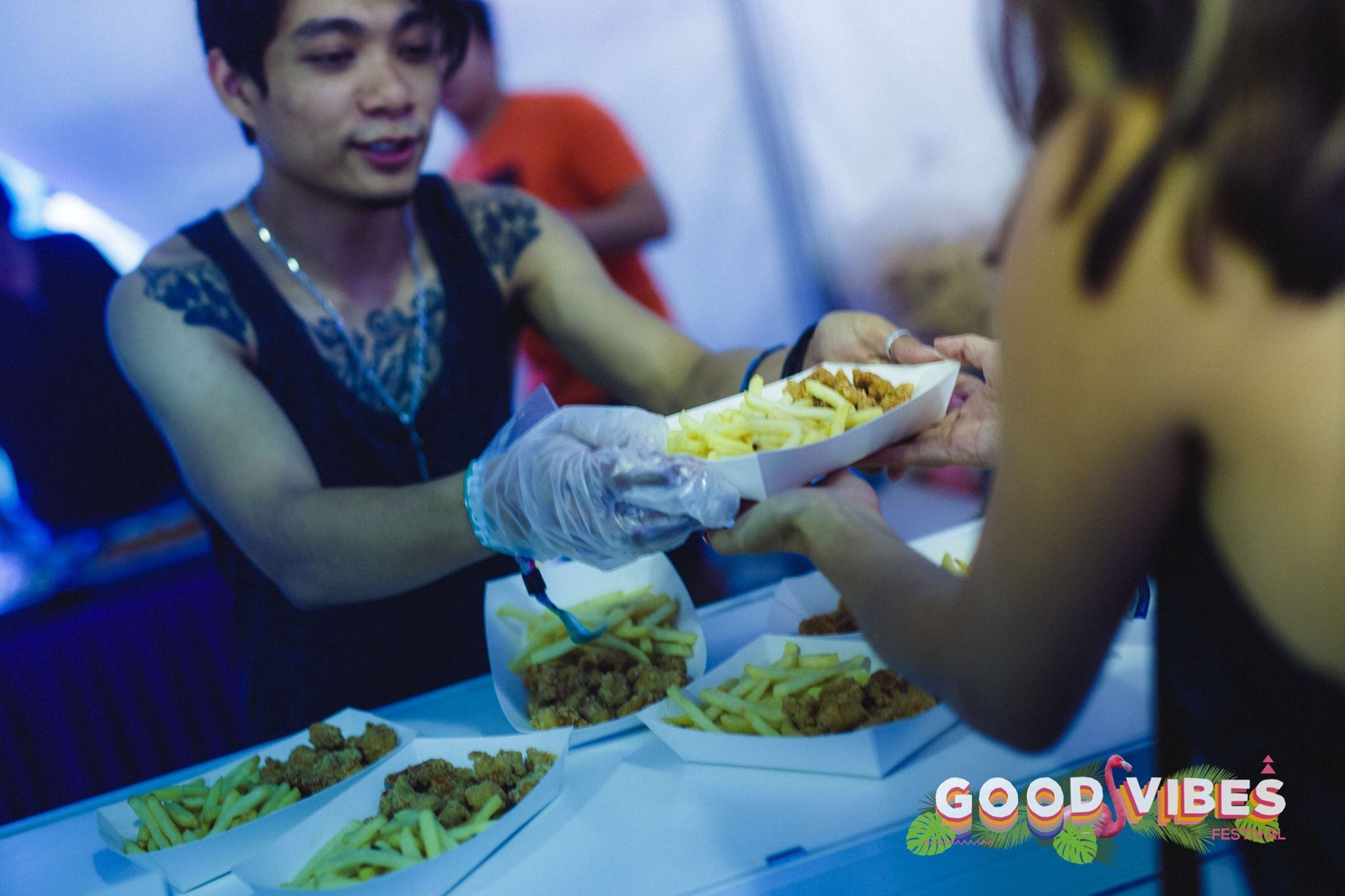Good food is definitely good vibes.