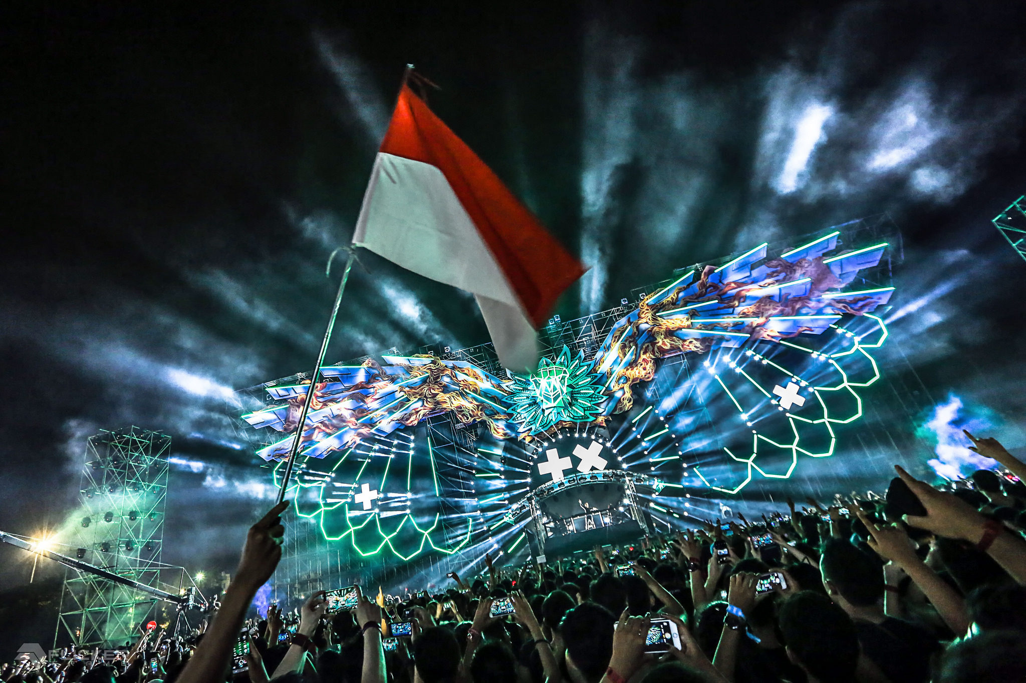 The main stage, Garuda Land.