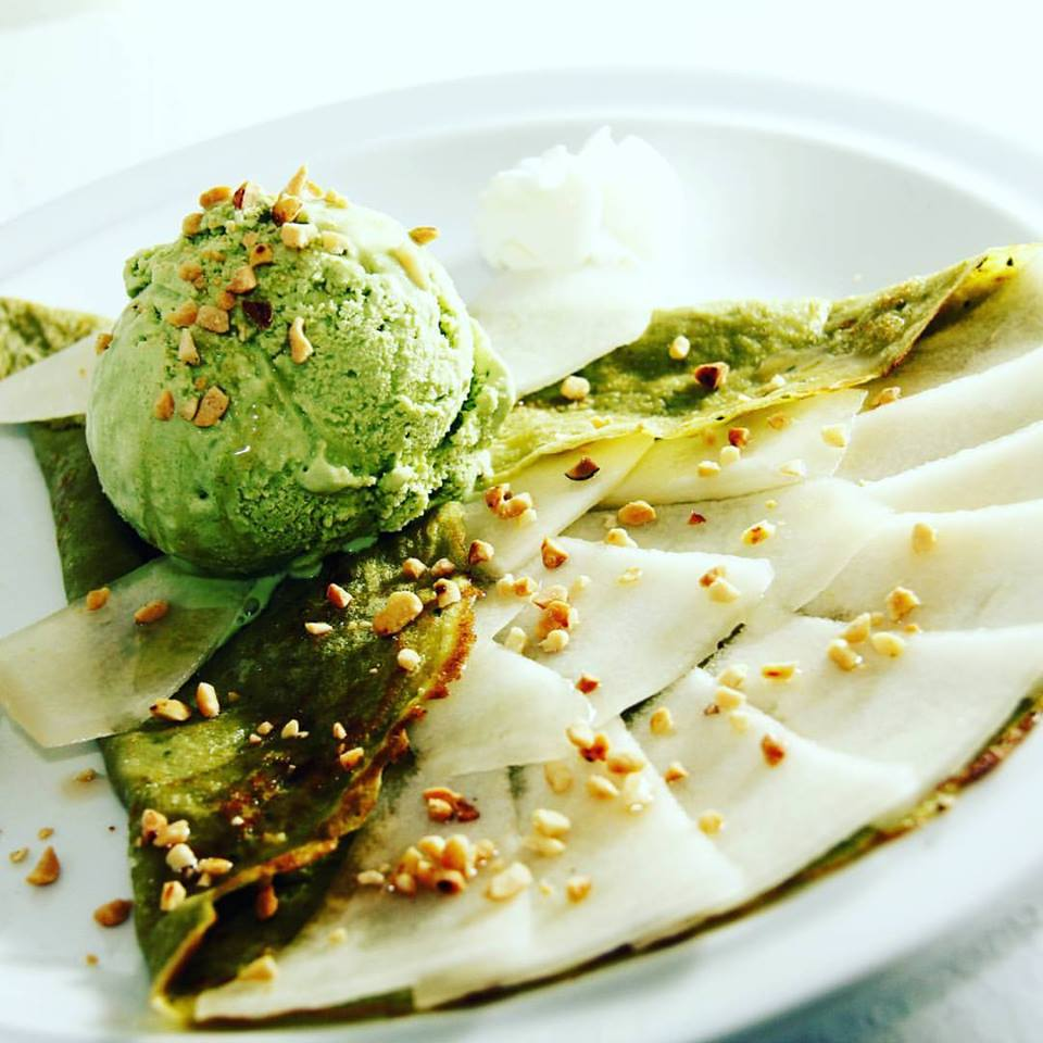 Honeydew Green Tea Crepe