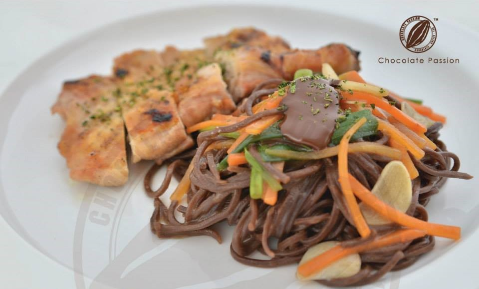 Teriyaki Chocolate Spaghetti.