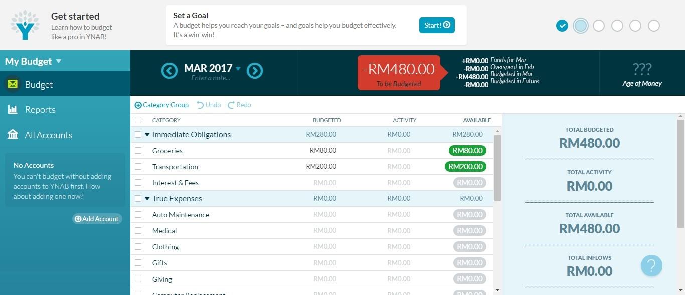 Use an online budget app