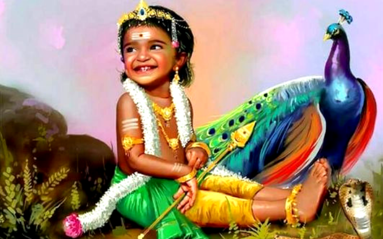 Baby Murugan Images With Peacock Baby Viewer