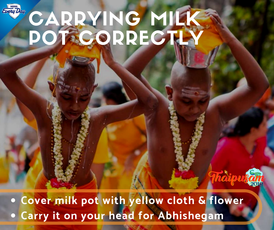 Carrying Milk Pot Correctly